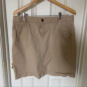 Old Navy khaki pencil mini skirt, 14